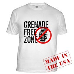 Grenade Free Zone MADE IN THE USA t-shirt