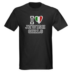 I Heart Jewish Girls shirt, I love Jewish Girls