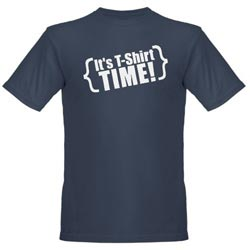 It's T-Shirt Time! Blue Tee Shirt